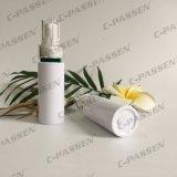 Пластичная белая бутылка любимчика с насосом лосьона для упаковывать внимательности кожи (PPC-PB-063)