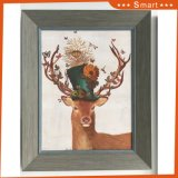 짜맞춰진 Handmade 동물성 색칠 사슴 유화