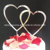 Экстракласс торта венчания сердца Doube Rhinestone для украшения торта