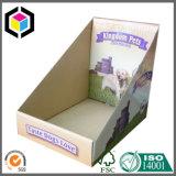 Caja de papel de pantalla de cartón ondulado PDQ para el artículo de la tienda