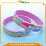 Wristband de borracha personalizado do silicone com projeto