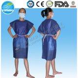 Abiti pazienti a gettare, abiti non tessuti del paziente ricoverato di Spp/SMS