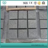 Telha cinzenta escura do granito de G654 Pandang, pedra de pavimentação, Pavers, pavimentação do granito