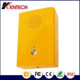 Knzd-13 Teléfono del intercomunicador del elevador para el elevador del elevador del pasajero Alarma de SOS Impermeabilice el dial auto del teléfono de la emergencia