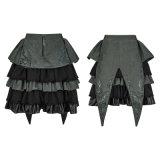 Partei-Mädchen-elegante grüne Rüsche-geschwollenes Fußleisten-Abschlussball-Kleid der Schule-Lq-080