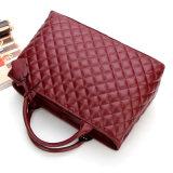 Nueva bolso de totalizador bordado de las señoras del bolso del cuero genuino del diseñador manera