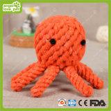 Produto da corda do algodão da mastigação do polvo do cão de brinquedos do animal de estimação