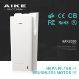 Dessiccateur duel hygiénique de main de gicleur d'air d'hôtel de l'ABS AK2030 d'école de toilettes de salle de toilette en plastique de salle de bains