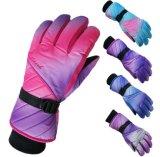 Impresión del gradiente de los guantes de los guantes de s de las nuevas mujeres del invierno 'anti - guantes fríos del esquí