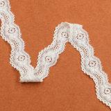 Merletto operato del Crochet del cotone di larghezza di schema a reticolo 2.5cm