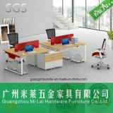 Mesa de escritório excelente do pé da ferragem da qualidade em 4 Seater com gabinete lateral