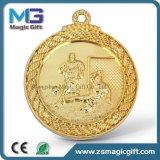 Médaille d'or personnalisée par blanc chaud de ventes