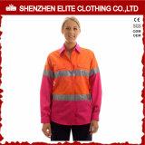 Weerspiegelende Band 100 de Katoenen Roze hallo Lange Overhemden van de Koker Vis