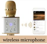 Precio de fábrica Q7 micrófono estéreo sin hilos del Karaoke del altavoz sin hilos de Bluetooth