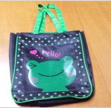 Симпатичный мешок обеда мешка Tote печатание шаржа для малышей