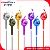 Fone de ouvido do telefone móvel com linha cores da mistura do controle