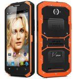 元の新しい第1 X3 Mtk6735 IP68 Lte 4G 5.5インチ2GB RAM+16GB ROM IP67 4500mAh 13MPのカメラの防水屋外のスマートな電話オレンジカラー