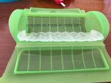 プラスチックSilconeのマイクロウェーブベーコンの炊事道具鍋