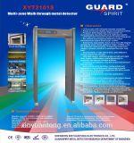 Ton u. LED-Warnungs-Türrahmen-Weg durch Metalldetektor für volle Körperkontrolle