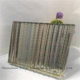Vidrio del vidrio Tempered/arte del vidrio laminado/seguridad con el espejo de seda colorido para la decoración