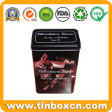 Envase del estaño del café del rectángulo con la categoría alimenticia, rectángulo del estaño del café