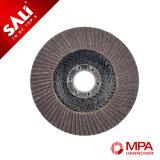 Las herramientas abrasivas calcinan el disco abrasivo de la solapa