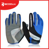 Hommes et femmes faisant un cycle les gants antidérapants antichoc de sports de vélo de plein doigt de gants