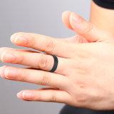 Spätestes schönes 1 Gramm-Goldreale Kohlenstoff-Faser-Finger-Ring-Großverkauf-Entwürfe für Männer