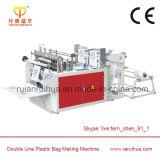 두 배 채널 자동적인 많은 에틸렌 부대 밀봉 기계