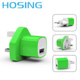 Заряжатель USB цвета для переходники держателя стены iPhone