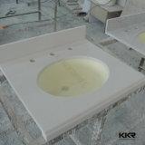 Kkr personalizou partes superiores de superfície contínuas da vaidade do banheiro da cozinha de quartzo