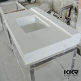 Dessus extérieur solide de marbre de vanité de salle de bains de la CE avec le bassin (V170728)