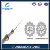 Câble en aluminium central de tube d'Opgw avec des couches bicaténaires