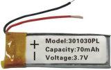 батарея полимера лития 042035 200mAh с высокой эффективностью