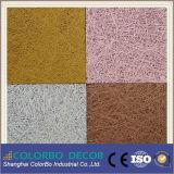 Los paneles de pared acústicos de las lanas de madera de la decoración interior