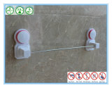 Prateleira de toalha do banheiro da barra do aço inoxidável a única com o copo da sução do ar absorve