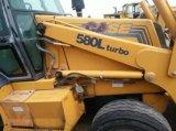 Используемый затяжелитель Backhoe случая 580L, используемый затяжелитель кормила скида