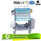 Chariot de soins infirmiers sans fil avec moniteur et panier