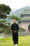 봄 & 가을 두꺼운 리넨 대 고리 남자의 Kongfu 사례 한 벌