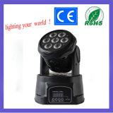 Großhandels7pcs 10W RGBW 4 in 1 mini beweglichem Hauptlicht