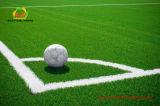 Relvado artificial do preço barato para o tamanho padrão de campo de futebol com certificação do GV
