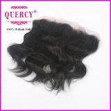Jungfrau-Haar-natürliche Wellen-Silk niedriges Schliessen-Spitze-Stirnbein des Großhandelspreis-menschliche Jungfrau-Haar-13*4 peruanische