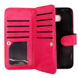 Billfold Style Car Holder Leather PU Fall für iPhone