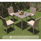 China-Garten-gesetzte hölzerne Tisch-Weidenstuhl-Patio-Möbel