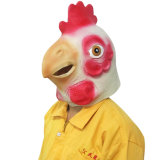 Máscara de pollo Cabeza Máscara de látex de Halloween Costume Party Animal