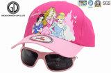 Chapeau de sports de base-ball de bébé de gosses de mode avec l'impression et les lunettes de soleil de transfert