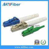 Conetor simples da fibra de Singelmode do PC do LC/da cor azul