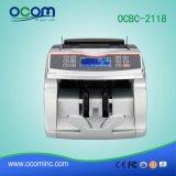 Máquina del contador de efectivo del billete de banco del dinero en circulación del encargado del departamento con el detector del dinero