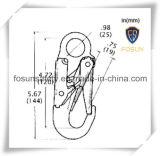 Gancho de leva estampado del broche de presión del cinc del acero de aleación (G7115)