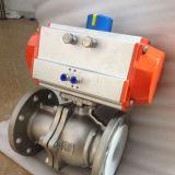 単一の空気アクチュエーターを搭載する2PC浮遊球弁
